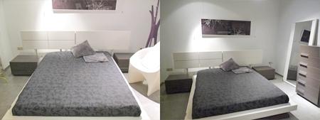 Dormitorio Lacado Blanco/ Ceniza